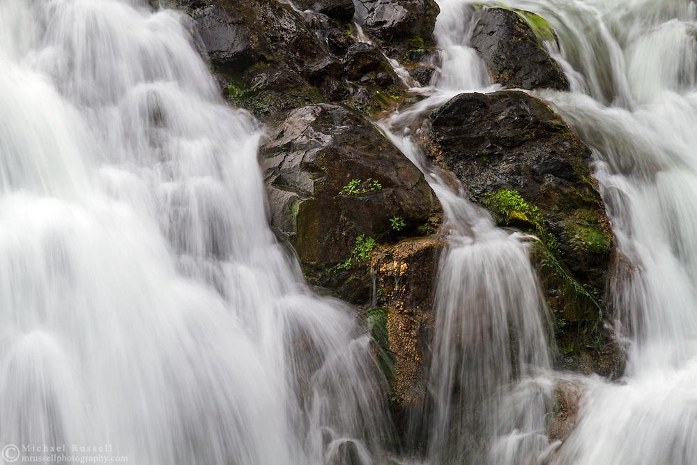 Portion of the main falls at Englishman River Falls Provincial Park in Errington, British Columbia, Canada