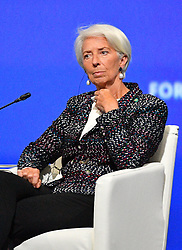 IMF director Christine Lagarde attending a session of the Saint Petersburg International Economic Forum on May 25, 2018 in Saint Petersburg.Photo by Christian Liewig/ABACAPRESS.COM