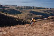 Mountain biking in Montana de Oro State Park, San Luis Obispo County, California