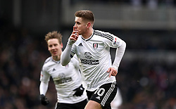 Fulham's Tom Cairney celebrates scoring his side's first goal of the game