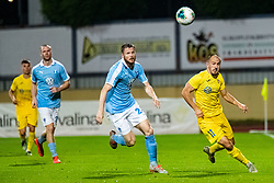 Tonci Mujan of NK Domzale and Lasse Nielsen of Malmo FF during Football match between NK Domzale and Malmo FF in Second Qualifying match of UEFA Europa League 2019/2020, on July 25th, 2019 in Sports park Domzale, Domzale, Slovenia. Photo by Grega Valancic / Sportida