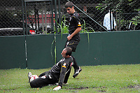 20090413: SAO PAULO, BRAZIL - Sao Paulo captain and goalkeeper Rogerio Ceni breaks ankle during training session. PHOTO: CITYFILES