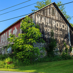 Ortanna, PA, USA- June 2, 2012: An older Mail Pouch Barn on Route 30 Lincoln Highway in Adams County, PA.