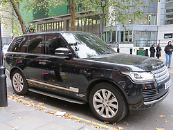 "© Licensed to London News Pictures. 28/10/2018. London, UK. British actors Taron Egerton (Star of Kingsmen) and Richard Madden (star of Bodyguard), both of whom are to feature in ""Rocketman"" the Elton John biopic, filming for a CBS television production in a Range Rover in Westminster, London. Photo credit: Graham Long/LNP"