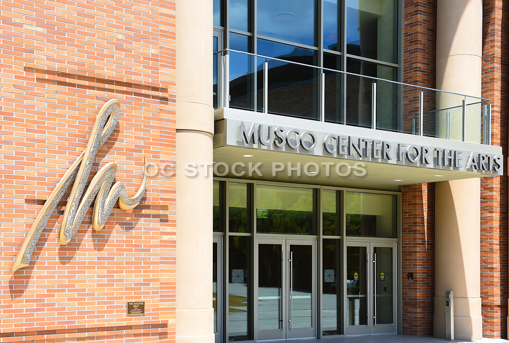 Musco Center for the Arts Entrance on Campus of Chapman University
