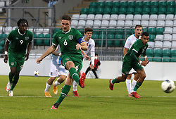 Republic of Ireland's Conor Coventry scores their side's second goal of the game from the penalty spot during the UEFA Under-21 Championship Qualifying Round Group F match at the Tallaght Stadium, Dublin. Picture date: Friday October 8, 2021.