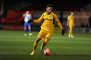 Christian Jolley of Newport county in action. FA cup with Budweiser, 1st round replay, Newport county v Braintree Town at Rodney Parade in Newport, South Wales on Tuesday 19th November 2013. pic by Andrew Orchard, Andrew Orchard sports photography,