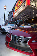 Lexus cars lined up outside the Gillioz Theatre for 417 Magazine's 2014 Fashionation Event.