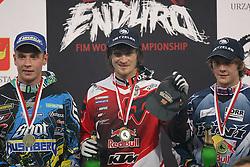 11.12.2011, Atlas Motorsport Arena, Lodz, POL, SUPER Enduro WM, 2. Runde, im Bild NZ. LJUNGGREN JOANKIM (L) TADEUSZ BLAZUSIAK (C) JOHNNY WALKER (P) ( POLAND SPORT MOTORS FIM ) // during SUPER Enduro World Championship at Atlas Motorsport Arena, Lodz, Poland on 2011/12/11. EXPA Pictures © 2011, PhotoCredit: EXPA/ Newspix/ Mateusz Trzuskowski..***** ATTENTION - for AUT, SLO, CRO, SRB, SUI and SWE only *****