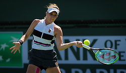 March 8, 2019 - Indian Wells, USA - Marketa Vondrousova of the Czech Republic in action during her second-round match at the 2019 BNP Paribas Open WTA Premier Mandatory tennis tournament (Credit Image: © AFP7 via ZUMA Wire)