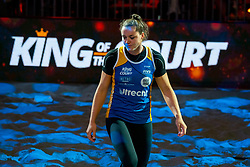 Mexime van Driel during the ceremony on the last day of the beach volleyball event King of the Court at Jaarbeursplein on September 12, 2020 in Utrecht.