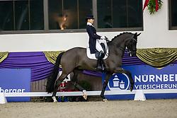 Kronberg, Gestüt Schafhof, KRONBERG _ Int. Festhallen Reitturnier Schafhof Edition 2020,<br /> <br /> NUXOLL Sandra (AUT), Bonheur de La Vie<br /> Louisdor-Preis - Finale 2020 <br /> Nachwuchspferde Grand Prix für 8 - 10j. Pferde / Finale<br /> Grand Prix<br /> Dressurprüfung Kl.S***<br /> <br /> 20. December 2020<br /> © www.sportfotos-lafrentz.de/Stefan Lafrentz