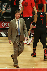 December 17, 2018 - Los Angeles, CA, U.S. - LOS ANGELES, CA - DECEMBER 17: Portland head coach Terry Stotts comes on the court for a timeout during the Portland Trail Blazers at Los Angeles Clippers NBA game on December 17, 2018 at Staples Center in Los Angeles, CA.. (Photo by Jevone Moore/Icon Sportswire) (Credit Image: © Jevone Moore/Icon SMI via ZUMA Press)