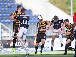 Falkirk's Peter Grant scoring their goal.<br /> half time : Falkirk 1 v 1 Alloa Athletic, Scottish Championship game played 4/10/2014 at The Falkirk Stadium.