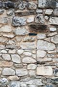 Stone wall, Vielha e Mijaran, Aran, Catalonia, Pyrenees, Spain