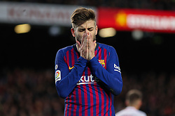 January 30, 2019 - Barcelona, BARCELONA, Spain - Pique of Barcelona in action during Spanish King championship, football match between Barcelona and Sevilla, January  30th, in Camp Nou Stadium in Barcelona, Spain. (Credit Image: © AFP7 via ZUMA Wire)