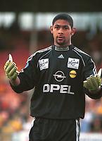 Keeper Emille Baron, Lillestrøm. Lillestrøm - Odd 2-0, Tippeligaen 2000. 2. august 2000. (Foto: Peter Tubaas/Fortuna Media)