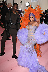 Travis Scott and Kylie Jenner attending the Costume Institute Benefit at The Metropolitan Museum of Art celebrating the opening of Heavenly Bodies: Fashion and the Catholic Imagination. The Metropolitan Museum of Art, New York City, New York, May 6, 2019. Photo by ABACAPRESS.COM