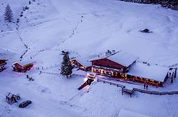 THEMENBILD - die Lindlingalm in der Winterlandschaft, aufgenommen am 26. Dezember 2018 in Hinterglemm, Oesterreich // the Lindlingalm in the winter landscape, Hinterglemm, Austria on 2018/12/27. EXPA Pictures © 2018, PhotoCredit: EXPA/ JFK