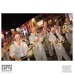 Go Wellington Cuba St Carnival Night Parade at Courtenay Place, Wellington, New Zealand.