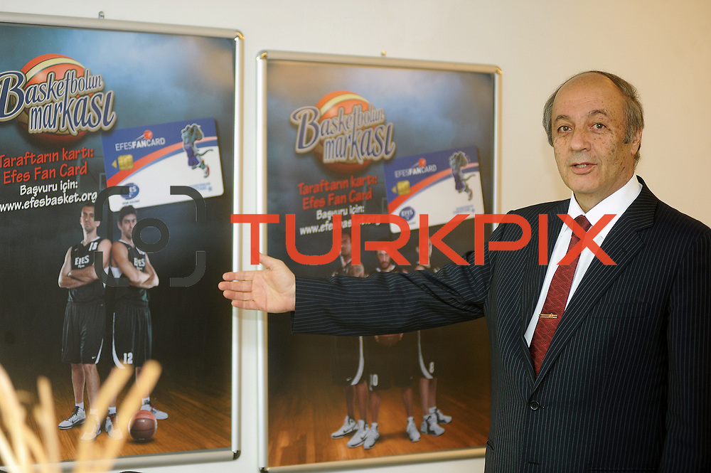 Anadalo Group Ceo Tuncay OZILHAN during their Turkish Airlines Euroleague Basketball Top 16 Group G Game 6 match Efes Pilsen between Partizan at Sinan Erdem Arena in Istanbul, Turkey, Thursday, March 03, 2011. Photo by TURKPIX