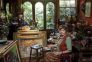 Australian Artist Margaret Olley at home in Paddington in 2014.