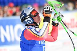 13.02.2020, Zwölferkogel, Saalbach Hinterglemm, AUT, FIS Weltcup Ski Alpin, Abfahrt, Herren, im Bild Thomas Dressen (GER) Sieger // Thomas Dressen of Germany Winner reacts after his run for the men's Downhill of FIS Ski Alpine World Cup at the Zwölferkogel in Saalbach Hinterglemm, Austria on 2020/02/13. EXPA Pictures © 2020, PhotoCredit: EXPA/ Erich Spiess