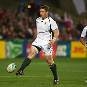 Jogn Smit, South Africa, is sent to the sin bin for kicking the ball away during the South Africa V Samoa, Pool D match during the IRB Rugby World Cup tournament. North Harbour Stadium, Auckland, New Zealand, 30th September 2011. Photo Tim Clayton...
