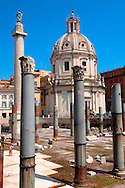 Columns of Emperors Trajan's Forum and Trajans Column . Rome .<br /> <br /> Visit our ITALY HISTORIC PLACES PHOTO COLLECTION for more   photos of Italy to download or buy as prints https://funkystock.photoshelter.com/gallery-collection/2b-Pictures-Images-of-Italy-Photos-of-Italian-Historic-Landmark-Sites/C0000qxA2zGFjd_k<br /> .<br /> <br /> Visit our ROMAN ART & HISTORIC SITES PHOTO COLLECTIONS for more photos to download or buy as wall art prints https://funkystock.photoshelter.com/gallery-collection/The-Romans-Art-Artefacts-Antiquities-Historic-Sites-Pictures-Images/C0000r2uLJJo9_s0