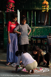 Getting ready for a religious celebration just outside Chitwan National Park on day-2 of our Himalayan Heroes adventure riding from Daman to Chitwan, Nepal. Wednesday, November 7, 2018. Photography ©2018 Michael Lichter.