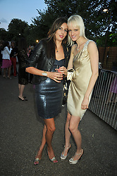 Left to right, ZARA SIMON and LIUDA BAKHMA at the annual Serpentine Gallery Summer Party sponsored by Canvas TV  the new global arts TV network, held at the Serpentine Gallery, Kensington Gardens, London on 9th July 2009.