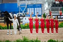 Team SUI Luetisburg, Rayo de la Luz, Büttiker Nadja, Näf Ramona, Bierbi Elisabeth, Koller Aline, Seiler Kyra, Koller Samira, Lunger Winkler-Bischofberger Monika, SUI<br /> World Equestrian Games - Tryon 2018<br /> © Hippo Foto - Dirk Caremans<br /> 18/09/2018
