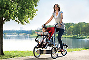 bike that converts into a stroller!<br /> <br /> Here is Taga, an amazing bike that turns into a stroller, and vice versa! This new gadget for active parents combines the advantages of the bicycle and the stroller with an innovative design. Simply fold the rear wheel of this family tricycle to turn it into a stroller. <br /> ©Taga/Exclusivepix Media