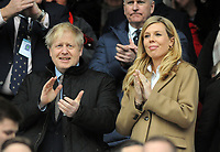 Rugby Union - 2020 Guinness Six Nations Championship - England vs. Wales<br /> <br /> Conservative Prime Minister, Boris Johnson with girlfriend Carrie Symonds, at Twickenham.<br /> <br /> COLORSPORT/ANDREW COWIE