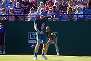 Kyle Edmund (GBR) at the Nature Valley International at Devonshire Park, Eastbourne, United Kingdom on 27th June 2018. Picture by Jonathan Dunville.