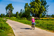 Great place to ride a bicycle is Cam Kim Island next to Hoi an. This sidewalk is on the far end of the Island from Hoi an.