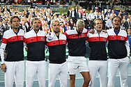 Team French during the 2018 Davis Cup, semi final tennis match between France and Spain on September 14, 2018 at Pierre Mauroy stadium in Lille, France - Photo Laurent Lairys / ProSportsImages / DPPI