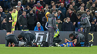 Football - 2017 / 2018 Premier League - Crystal Palace vs. Manchester United<br /> <br /> Medical staff attend to Ashley Young (Manchester United) and Luka Milivojevic (Crystal Palace) at Selhurst Park.<br /> <br /> COLORSPORT/DANIEL BEARHAM