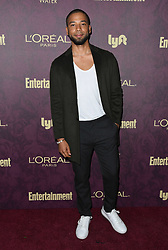 September 15, 2018 - West Hollywood, CA, U.S. - 15 September 2018 - West Hollywood, California - Jussie Smollett. 2018 Entertainment Weekly Pre-Emmy Party held at the Sunset Tower Hotel. Photo Credit: Birdie Thompson/AdMedia (Credit Image: © Birdie Thompson/AdMedia via ZUMA Wire)