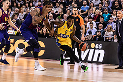 November 1, 2018 - Barcelona, Barcelona, Spain - Kendrick Ray, #0 of Maccabi Fox Tel Aviv in actions during EuroLeague match between FC Barcelona Lassa and Maccabi Fox Tel Aviv  on November 01, 2018 at Palau Blaugrana, in Barcelona, Spain. (Credit Image: © AFP7 via ZUMA Wire)