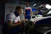 29th October - 1st November 2015. World Endurance Championship. 6 Hours of Shanghai.  Shanghai International Circuit, China. Toyota mechanic