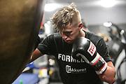 "BOXEN: EC Boxing, Hamburg, 03.01.2020<br /> Sebastian ""Hafen Basti"" Formella beim Sparring<br /> © Torsten Helmke"