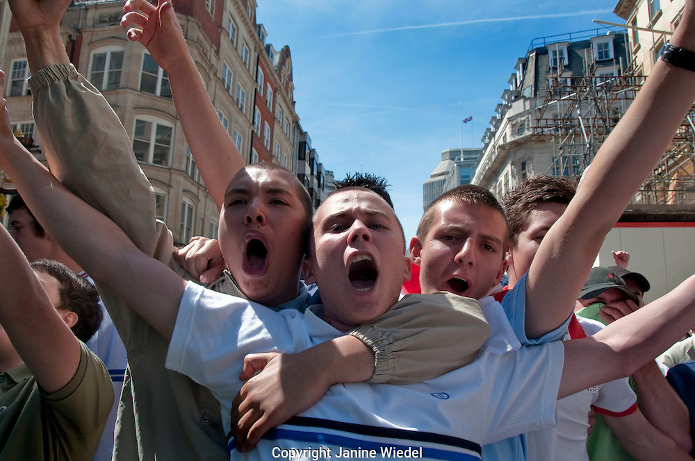England Defence League (EDL) march through central London on 22 May 2010