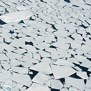 Ice breaking apart during late April on the Beaufort Sea. Kaktovik, Alaska