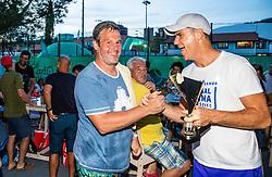 Peter Bulatovic, Grega Krusic during Tennis tournament of Slovenian Recreational players, on August 16, 2020 in SC Marina, Portoroz / Portorose, Slovenia. Photo by Vid Ponikvar / Sportida