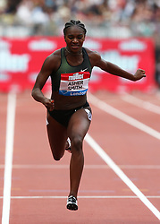 July 22, 2018 - London, United Kingdom - Dina Asher-Smith of Great Britain and Northern Ireland Shericka Jackson of Jamaica  compete in the 200m Women .during the Muller Anniversary Games IAAF Diamond League Day Two at The London Stadium on July 22, 2018 in London, England. (Credit Image: © Action Foto Sport/NurPhoto via ZUMA Press)