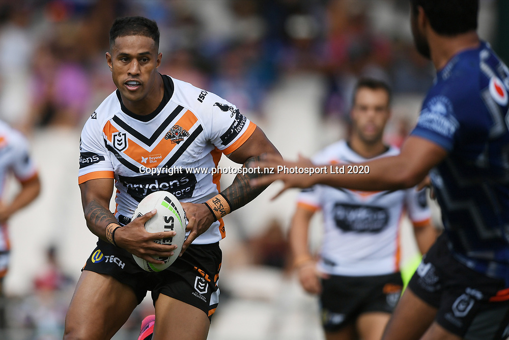 Wests Tigers Michael Chee Kam in action in the NRL Trial, Vodafone Warriors v Wests Tigers, Rotorua Stadium, Rotorua, Sunday, March 01, 2020. Copyright photo: Kerry Marshall / www.photosport.nz
