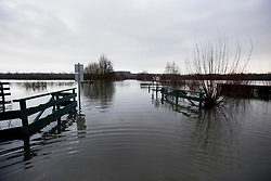 04 February 2021. Beaumarie Saint Martin, Pas de Calais, France.<br /> Roads and houses are inundated with record flooding from the Canche river in Beaumarie Saint Martin in Pas de Calais in north western France.<br /> Photo©; Charlie Varley/varleypix.com<br /> All rights managed.