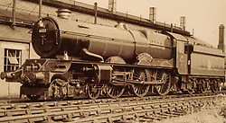 © under license to London News Pictures. 02/04/2011. The King Edward II steam locomotive pictured here in 1950 at Didcot following repairs.  The KEII was today (02/04/2011) revealed to the public in it's full glory at the Railway Centre in Didcot, Oxfordshire, England. A group of volunteer workers have spent the last 20 years working on restoring the heavy express steam locomotive to full working order. The splendid machine first introduced in the 1920's spent many years rotting at Barry Scrapyard in Wales after performing over 1,500,000 miles of service pulling trains between London Paddington and the West of England for Great Western Railway. Photo credit should read: London News Pictures