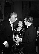 Cyril Cusack and Wife Maureen at Catholic Stage Guild Ball speak to Noel Purcell.20/11/1952